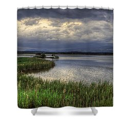 Peaceful Evening At The Lake Shower Curtain