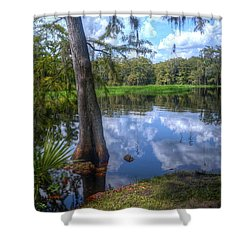 Peaceful Florida Shower Curtain by Timothy Lowry