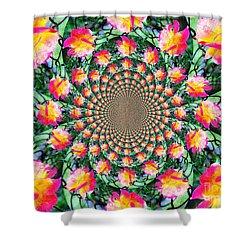 Shower Curtain featuring the photograph Peaceful Kaleidoscope by Judy Palkimas
