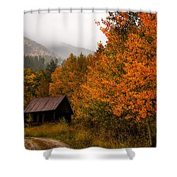 Shower Curtain featuring the photograph Peaceful by Ken Smith
