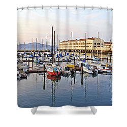 Shower Curtain featuring the photograph Peaceful Marina by Kate Brown
