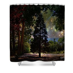 Magical Night At The River Shower Curtain