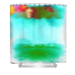 Shower Curtain featuring the digital art Peaceful Noise by Anita Lewis
