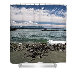 Peaceful Pacific Beach Shower Curtain