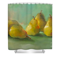 Peaceful Pears Shower Curtain