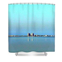 Peaceful Pensacola Beach Shower Curtain by Faith Williams