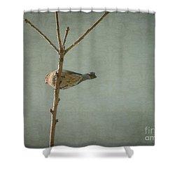 Peaceful Perch Shower Curtain by Meghan at FireBonnet Art