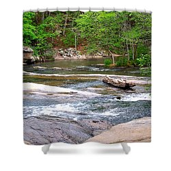 Peaceful Shower Curtain by Pete Trenholm