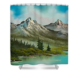 Peaceful Pines Shower Curtain by C Steele