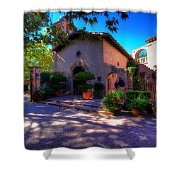 Shower Curtain featuring the photograph Peaceful Plaza by Dave Files