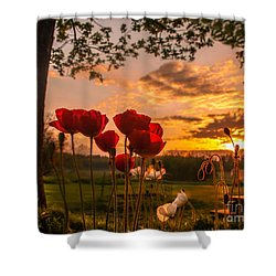 Peaceful Poppy Shower Curtain by Rose-Maries Pictures
