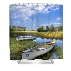 Peaceful Prairie Shower Curtain by Debra and Dave Vanderlaan