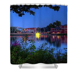 Shower Curtain featuring the photograph Peaceful River by Dave Files