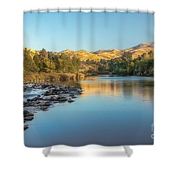 Peaceful River Shower Curtain by Robert Bales