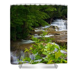 Shower Curtain featuring the photograph Peaceful Stockbridge Falls  by Dave Files