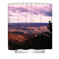 Peaceful Valley Shower Curtain by Matt Harang