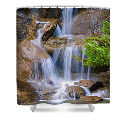 Shower Curtain featuring the photograph Peaceful Waterfall by Jordan Blackstone
