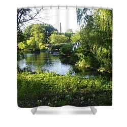 Peaceful Waters Shower Curtain by Verana Stark