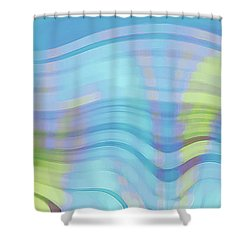 Peaceful Waves Shower Curtain by Ben and Raisa Gertsberg