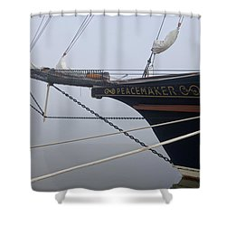 Peacemaker Shower Curtain by Julia Wilcox