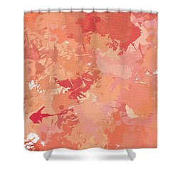 Peach Galore Shower Curtain
