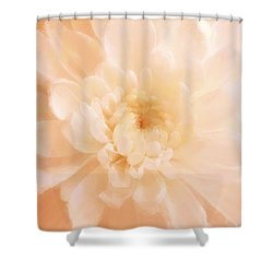 Peach Mum Luminous Painted Blossom Shower Curtain