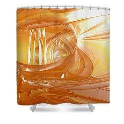Peaches N' Cream Shower Curtain by Joshua Thompson