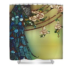 Peacock 2 Shower Curtain by Jack Zulli