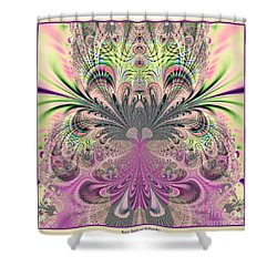 Peacock Feathers Bouquet Fractal 157 Shower Curtain by Rose Santuci-Sofranko