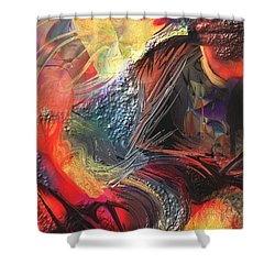 Peacock Shower Curtain by Francoise Dugourd-Caput