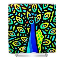 Peacock Iv Shower Curtain by John  Nolan