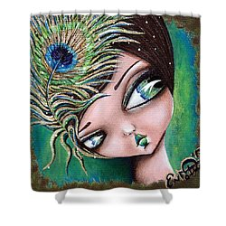 Peacock Princess Shower Curtain