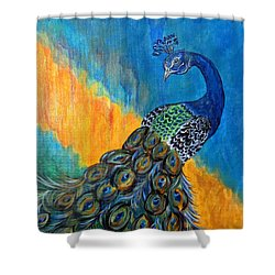Peacock Waltz #3 Shower Curtain