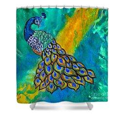 Peacock Waltz II Shower Curtain
