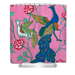 Peacocks Flying Southeast Shower Curtain