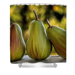 Pear Buddies Shower Curtain