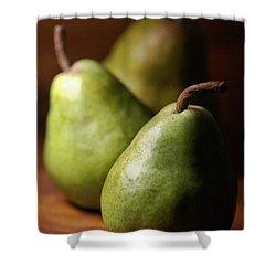Pear Delight Shower Curtain by Joy Watson