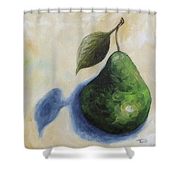 Pear In The Spotlight Shower Curtain