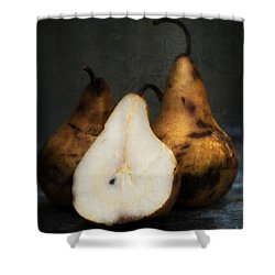 Pear Still Life Shower Curtain by Edward Fielding