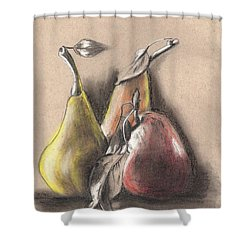 Pear2 Shower Curtain