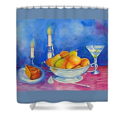 Pearis By Candlelight  Shower Curtain