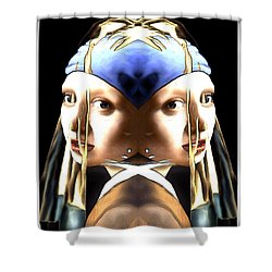 Pearl Earring Pearl Shower Curtain