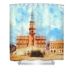 Pearl Of Renaissance Shower Curtain by Mo T