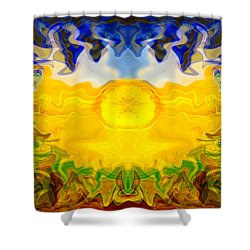Shower Curtain featuring the painting Pearlescent  by Omaste Witkowski