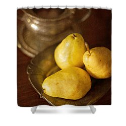 Pears And Great Grandpa's Silver Shower Curtain