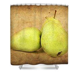Pears Shower Curtain by Barbara Orenya