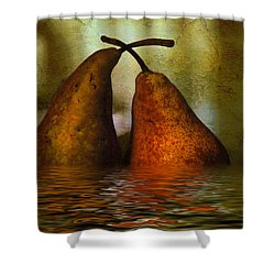 Pears In Water Shower Curtain