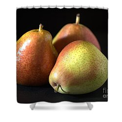 Pears Shower Curtain by Joy Watson