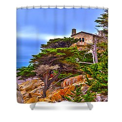 Pebble Beach Ca Shower Curtain by Richard J Cassato