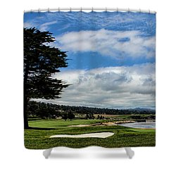 Pebble Beach - The 18th Hole Shower Curtain